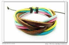 Multicolour Cotton Rope Woven Bracelets Adjustable by sevenvsxiao, $3.50