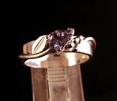 Periwinkle -Purple Spinel Gemstone Ring. $127.00, via Etsy.