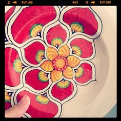 I can't wait to make a plate like this a pottery hollow! :)