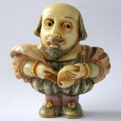 William Shakespeare - NIB - Oddbods Figurine Ornament -  Martin Perry Studios