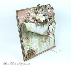 Amd Mixed Media Cards, Shabby Chic Cards, Shaped Cards, Pretty Cards, Flower Cards, Creative Cards, Vintage Cards, Diy Cards, Scrapbook Cards