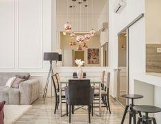 Elegant,  classic. Dinning, mirror, lamp, copper, rose gold