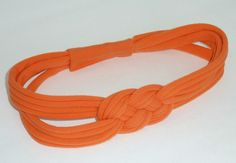 UPCYCLED Melon Orange SAILOR KNOT Headband by SweetSparrowDesign, $10.00