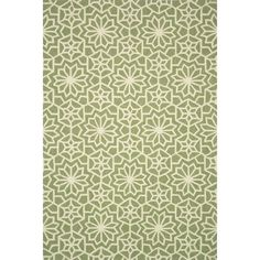 Hand Hooked Charlotte Green Rug (5'0 x 7'6)