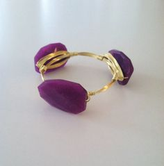 NEW  The Hampton  gold wire wrapped bracelet bangle by SOHbangles, $29.00