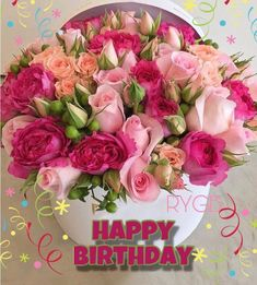Happy Birthday Pictures For Women Flowers 63 Ideas For 2020 Happy Birthday Flowers Wishes, Happy Birthday Bouquet, Happy Birthday Rose, Birthday Wishes Greetings, Birthday Wishes And Images, Birthday Blessings, Happy Birthday Pictures, Happy Birthday Messages, Sister Birthday