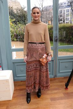 Olivia Palermo attends the Valentino show as part of the Paris Fashion Week Womenswear Fall/Winter 2017/2018 on March 5, 2017 in Paris, France.