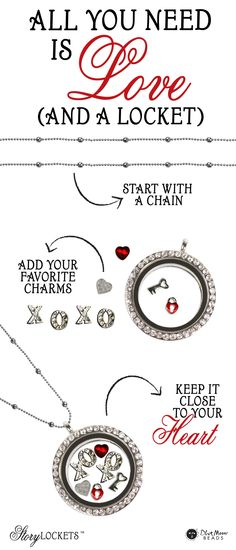 Valentine's Day DIY Story Locket Necklace