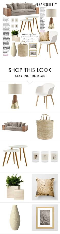 Living Room - Natural Wood by artbyjwp on Polyvore featuring interior, interiors, interior design, home, home decor, interior decorating, Muuto, Convenience Concepts, JAlexander and Madam Stoltz