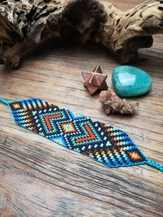 Your place to buy and sell all things handmade Loom Bracelet Patterns, Bead Loom Patterns, Beading Patterns, Native Beadwork, Native American Beadwork, Geek Perler, Beaded Jewelry, Beaded Bracelets, Bead Weaving
