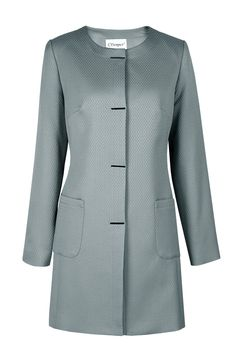 Płaszcz szaro-niebieski Vanessa Semper  #coat #jacket #jacquard #silver #grey #fashion2016 #fashionbrand #elegance #elegant #evening #designer #brand
