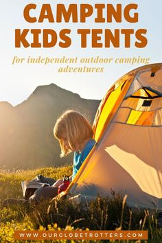 Kids ready for their own tent? Get ready for adventures in the great outdoors, the best kids tents they can use independently | Kids camping gear | family camping trip | best kids tents | Our Globetrotters adventurous family travel blog Kids Camping Tent, Boy Scout Camping, Kids Tents, Camping With Kids, Family Camping, Family Travel, Backpacking Tent, Camping And Hiking, Camping Gear