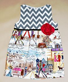 Gray Zigzag Promenade in Paris Dress - Toddler & Girls by Million Polkadots #zulily #zulilyfinds