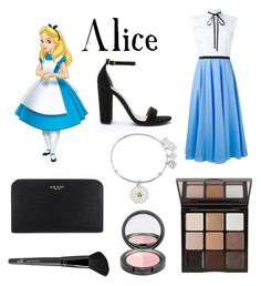 """""""Alice"""" by otterspace ❤ liked on Polyvore featuring Alex and Ani, VIVETTA, Steve Madden, Henri Bendel, Trish McEvoy, Old Navy, disney, aliceinwonderland and disneycharacter"""