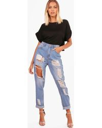 Image result for plus distressed high waisted mom jean