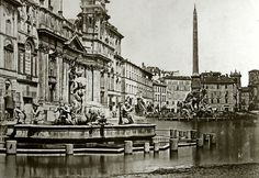 Piazza Navona Piazza Navona, Landscape Architecture, Vintage Photos, Louvre, Urban, Luigi, Travel, Rome, Italia