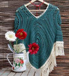 Poncho Verde Esmeralda