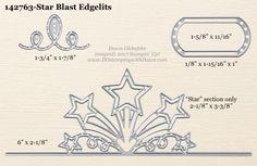 Star Blast Edgelits Dies sizes shared by Dawn Olchefske