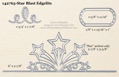 Star Blast Edgelits Dies sizes shared by Dawn Olchefske