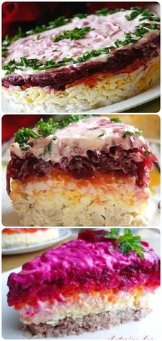 New recipes salad recetas Ideas Cooking A Roast, Easy Cooking, Cooking Recipes, Easy Healthy Recipes, Easy Meals, Good Food, Yummy Food, Russian Recipes, Baked Chicken Recipes