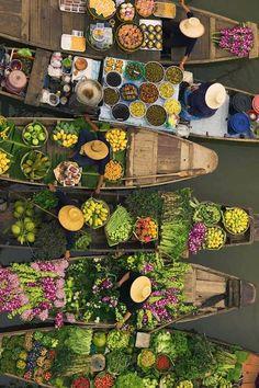 marché flottant - Thailande