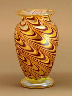 Orient & Flume - Gold Drag Loop Miniature Vase