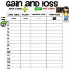 This is the recording sheet that goes along with the math card game, Gain and Loss.  This game is great to teach beginning addition and subtraction...