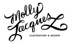 molly jacques; Beautiful hand lettered branding