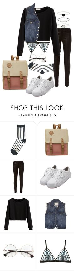 """""""Untitled #519"""" by el-khawla ❤ liked on Polyvore featuring rag & bone, WithChic, Current/Elliott, Cosabella and Accessorize"""