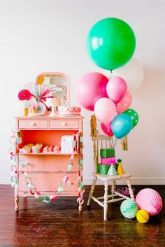Our favorite places for party supplies. Sweet LuLu has so many cute balloons, party decorations and paper products.