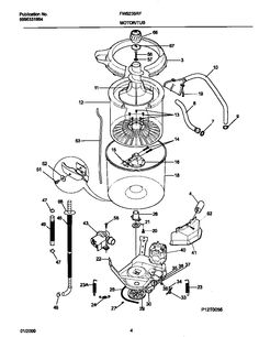DRUM AND TUB ASSEMBLY PARTS Diagram & Parts List for Model