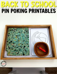 Use these pin poking cards to help your children develop their hand muscles, improve concentration and so much more!   Perfect for preschool activities or a Montessori classroom.   #montessori #preschoolactivities