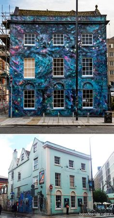 13 Before & After Street Art Transformations That Prove Graffiti Can Be Beautiful Murals Street Art, Street Art Graffiti, Best Street Art, Amazing Street Art, Banksy, Empty Canvas, Before After Photo, Beautiful Streets, Illusion Art