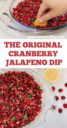 Cranberry Jalapeno Dip - The Perfect Holiday Appetizer! Cranberry Jalapeno Dip - The Perfect Holiday Appetizer!