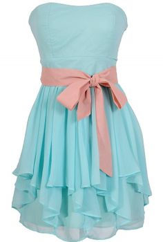 Ruffled Edges Chiffon Designer Dress in Pale Blue/Nude