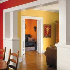 1000 images about red orange walls on pinterest orange - Interior orange paint colors ...