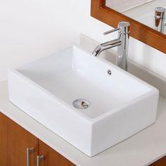 ELITE Bahtroom Long Square Thick Ceramic Porcelain Vessel Sink & Chrome Single Lver Faucet Combo Elite http://www.amazon.com/dp/B00C04PA8Q/ref=cm_sw_r_pi_dp_m71Nub1N5J4WV