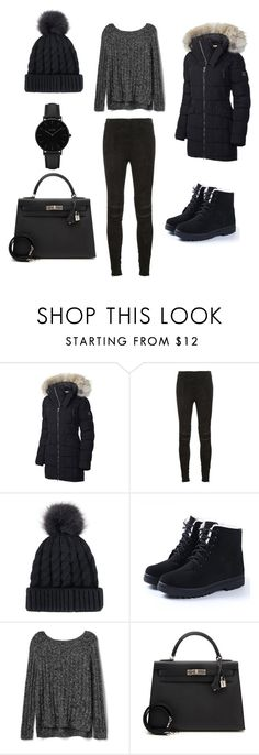 """#winter"" by melissarodrigues23 ❤ liked on Polyvore featuring SOREL, Yves Saint Laurent, Gap, Hermès and CLUSE"