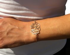 Monogram Bracelet 1.2 inch Personalized by MonogramPersonalized, $39.99