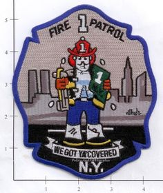 New York City NY Fire Dept Fire Patrol 1 Patch v3 #Patches
