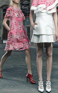 Adorbs! Short Sleeve Patchwork Dress by Antonio Berardi