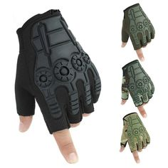 rabbagash.com Motorcycle Half-Finger Gloves Elegant design and attractive craftsmanship. Ergonomic finger design, greater flexibility, and comfort when driving. The palm reinforcement protects the hands from impact and abrasion. The touchscreen phone is easy to use. Wide protection on the back of the hand with a hard fiber shell design, effectively protects your hands from collisions. The palm with the portable puppy pad design, the attached hand provides fantastic grip. Last but not least, make