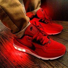 Light Up All Red Nike Air Max LTD - $170