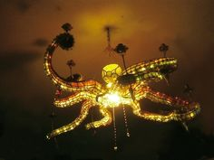 Octopus Lamp - Steampunk Interior Designs We Love at Design Connection, Inc. | Kansas City Interior Design http://designconnectioninc.com/blog/ #InteriorDesign #Steampunk