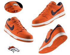 Mens Nike Denver Broncos Dunk Shoes yellow