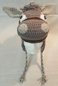 Horse Hat, crochet animal hat, winter hat by mwlforu on Etsy