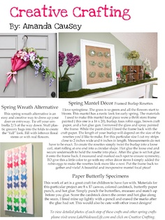 spring craft ideas from Lake Wedowee Life magazine   www.lakewedoweelife.com