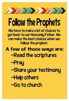 January 2015 Home Teaching Handout - Follow the Prophets