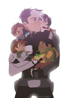 Shiro is true Space Dad of the paladins