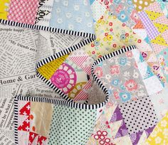 Scrappy Bear Paw Quilt ~ quilt back | Red Pepper Quilts 2015
